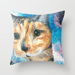 Snickers in Space Throw Pillow