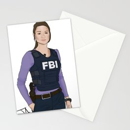 Special Agent Argent Stationery Cards