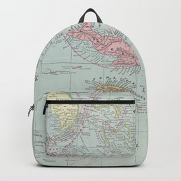 Vintage Map of The Caribbean (1889) Backpack