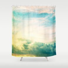 Pastel Abstract Sky  Shower Curtain