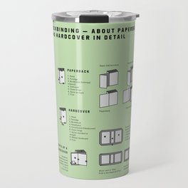 Bookbinding – About Paperback and Hardcover in Detail (in English) Travel Mug