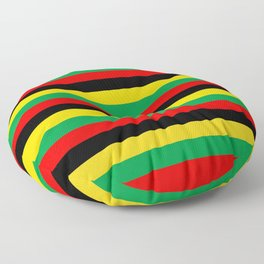 Biafra Mozambique Zambia flag stripes Floor Pillow