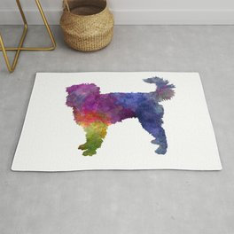Dutch smoushond dog in watercolor Rug
