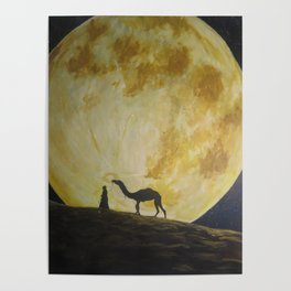 Travelling in Moonlight Poster