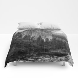 Yosemite National Park, El Capitan, Black and White Photography, Outdoors, Landscape, National Parks Comforters