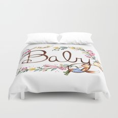 Hello Baby Duvet Cover