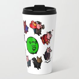 Pig-vengers Assemble! (White) Travel Mug
