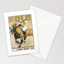 1923 Polo By The North Shore Line Transit Poster Stationery Cards