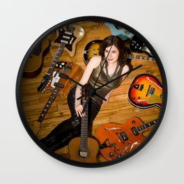 Guitars Wall Clock