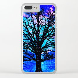 TREES AND STARS Clear iPhone Case