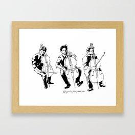 Cello player Framed Art Print