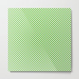 Green Flash and White Polka Dots Metal Print