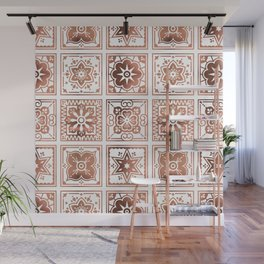 Talavera Mexican Tile – Rose Gold Palette Wall Mural