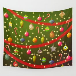 Look at these Christmas decorations! Wall Tapestry