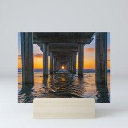 Under Scripps Pier Mini Art Print