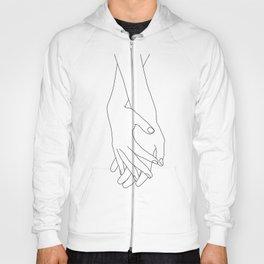 Holding hands illustration - Elana White Hoody