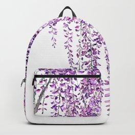 purple wisteria in bloom Backpack