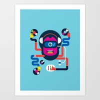 dj Art Prints featuring DJ by Katboy 7