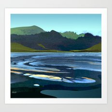 Low Tide, Late Evening Art Print