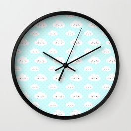 cloudy baby blue Wall Clock