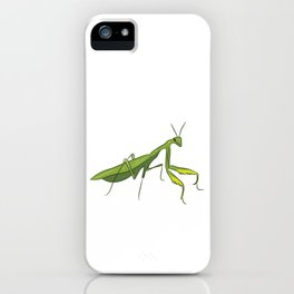 Cute Praying Mantis Love Funny Praying Mantis iPhone Case
