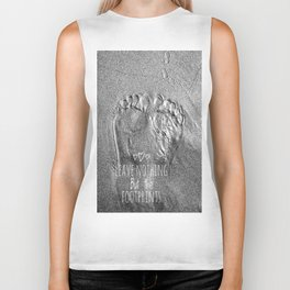 Leave nothing But the footprints - black and white Biker Tank
