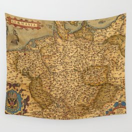 Old map of Germany 1570 Wall Tapestry