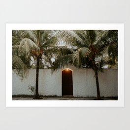 Doorfront in Puerto Morelos, Mexico Art Print