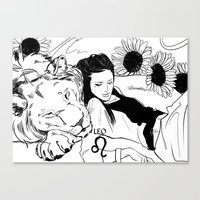 leo Canvas Prints featuring Leo by Cassandra Jean