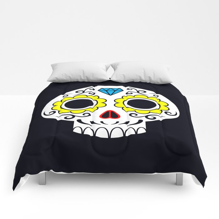 Sugar skull for a cake Comforters