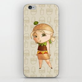 Mini Burger iPhone Skin