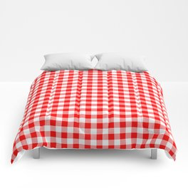 Australian Flag Red and White Jackaroo Gingham Check Comforters