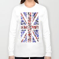 union jack Long Sleeve T-shirts featuring Union Jack by David T Eagles