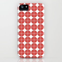 Red circle pattern iPhone Case