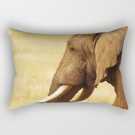 An Elephant in it's prime on safari Rectangular Pillow