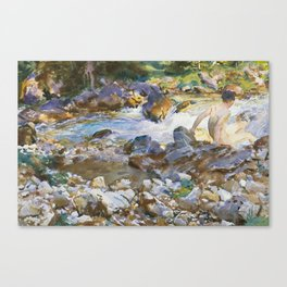 Mountain Stream by John Singer Sargent,1912 Canvas Print