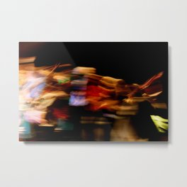 Make the lights dance and you'll never stop smiling Metal Print