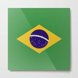 Brazil flag emblem Metal Print