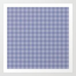 Blue gray simple plaid patterns . Art Print