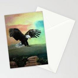The Eagle has Almost Landed Stationery Cards