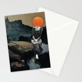 Lady Moon Head Stationery Cards