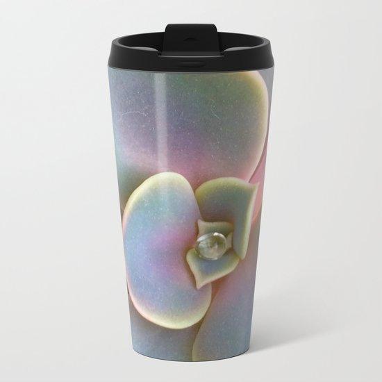 Succulent Dew Drop Metal Travel Mug