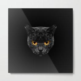 Cat Low Poly Metal Print