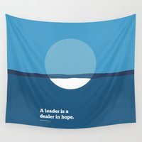 napoleon Wall Tapestries featuring Lab No. 4 - A leader is a dealer in hope Napoleon Bonaparte Leadership Inspirational Quotes Poster by Lab No. 4