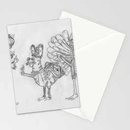 Weird Creatures Stationery Cards