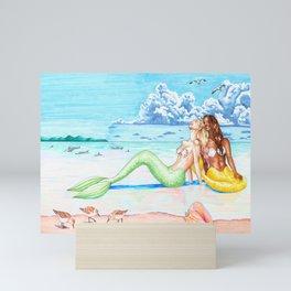 Mermaids at the Beach Mini Art Print