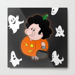 Halloweenie Metal Print