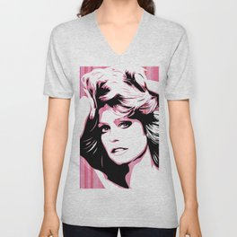 Farrah Fawcett | Pop Art Unisex V-Neck