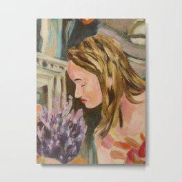 Oak Bay Flower Market Metal Print