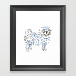 Pug Rock Framed Art Print